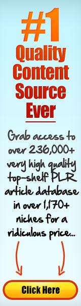 PLR Articles Database - Big Content Goldmine